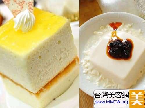 蛋糕+豆腐