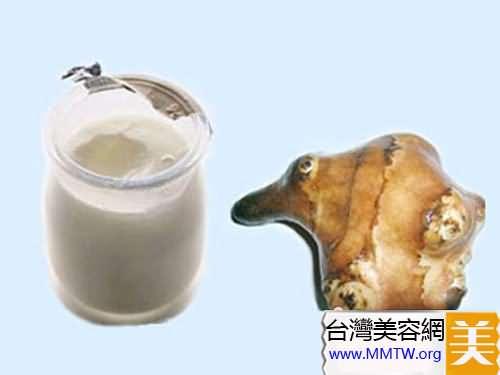 酸奶+洋姜