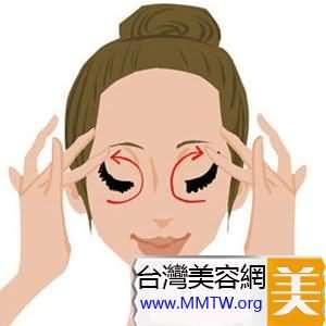 從下眼瞼到上眼瞼的曲線進行提拉