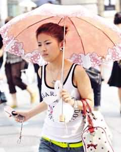 """上下班路上的""""遮陽傘"""""""