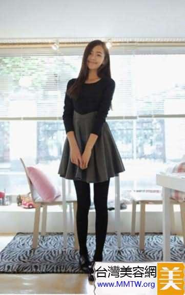連衣裙+絲襪顯瘦美搭