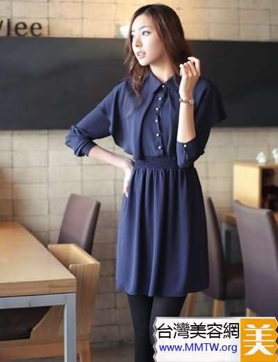 連衣裙+黑絲襪顯瘦美搭