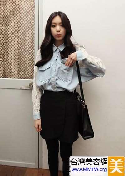 襯衫+短裙顯高搭配