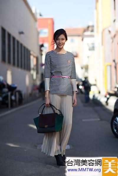 長裙顯高顯瘦搭配