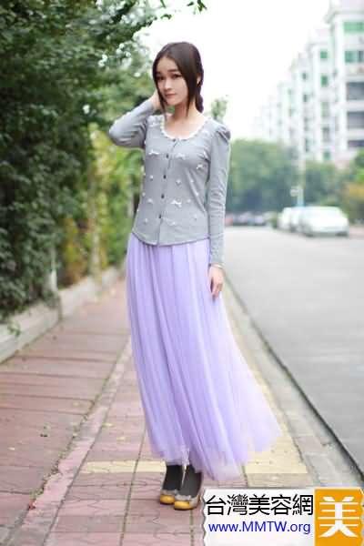 毛衣襯衣隨便搭 唯美紗裙打造仙女范