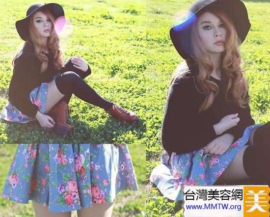 小個子專屬搭配 短裙演繹復古甜美風