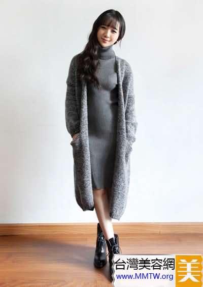 春季毛衣配長裙 優雅保暖顯高挑