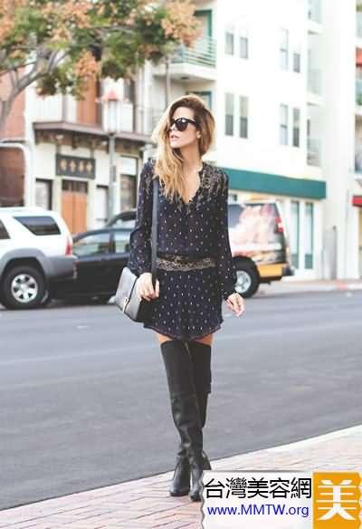 短裙還需靴子配 長靴短靴都顯高
