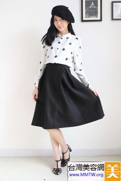 春季穿出白襯衣 搭配長裙復古又優雅