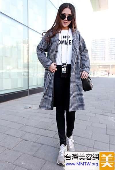 寬鬆外套緊身褲顯瘦 韓范休閒風搭配