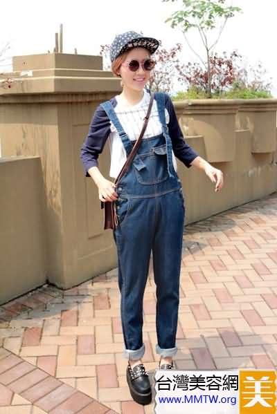春裝背帶褲減齡搭配 讓你嫩如18歲