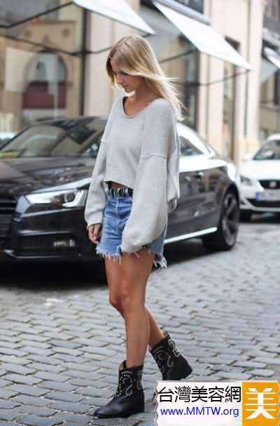 春季穿V領毛衣顯瘦 豐滿女生的性感法則