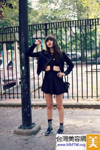 短外套配短裙 矮個也能變成長腿妞