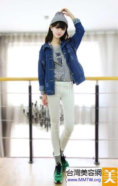 開衫襯衣緊身褲 顯高顯瘦韓系搭