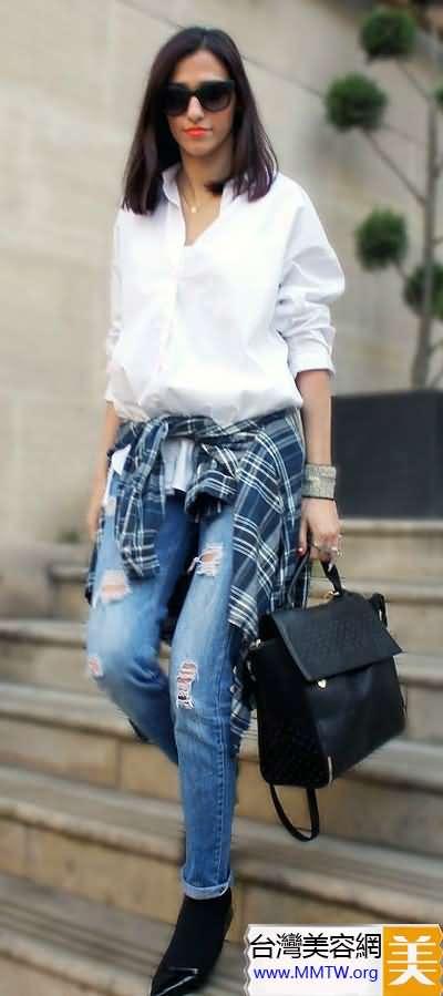 春裝長褲時尚搭配 高挑幹練顯氣場
