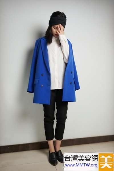 春裝外套就穿大一號 搭配緊身褲顯瘦韓系風