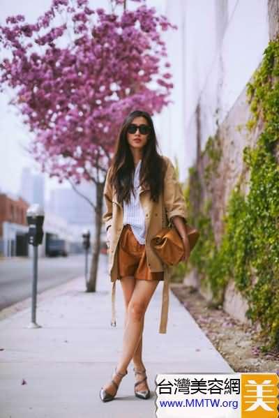 長袖襯衣搭短褲 極簡風格時尚又大氣