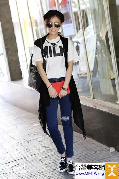 針織開衫+T恤 基本款百搭最舒適