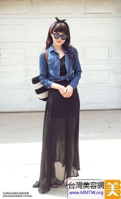 長連衣裙+短外套 既能顯瘦又顯高
