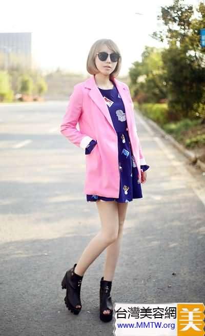 亮色西裝+短裙 職場新人最佳搭配【圖】