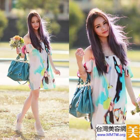 短款連衣裙+高跟鞋 小個子甜美顯高搭【圖】